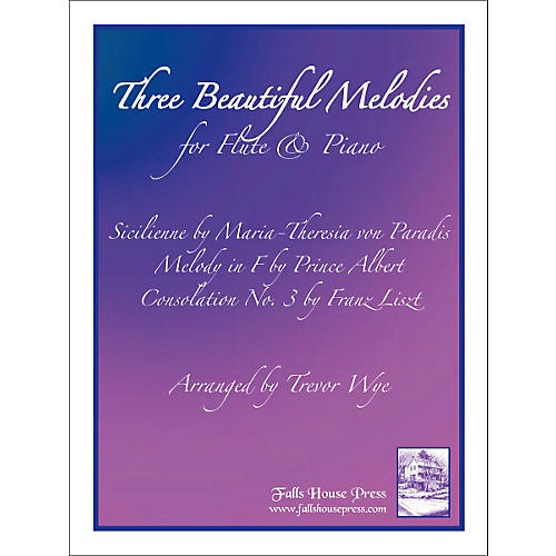 Theodore Presser Three Beautiful Melodies For Flute & Piano (Book + Sheet Music)