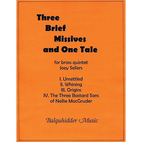 Carl Fischer Three Brief Missives Book