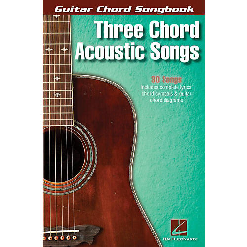 Hal Leonard Three Chord Acoustic Songs - Guitar Chord Songbook-thumbnail