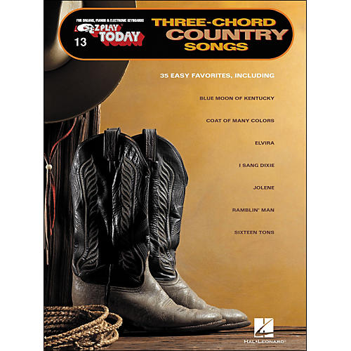 Hal Leonard Three-Chord Country Songs E-Z play 13