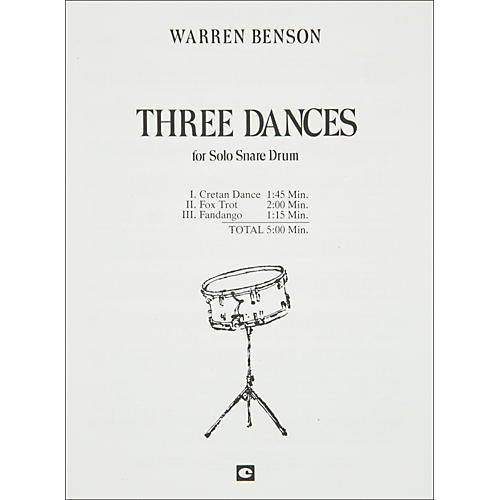 Hal Leonard Three Dances for Solo Snare Drum-thumbnail