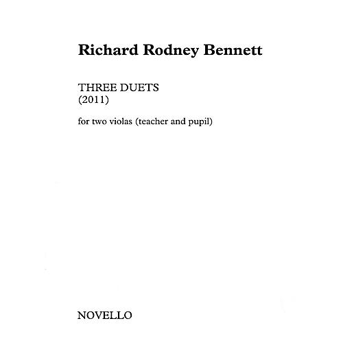 Novello Three Duets for Two Violas (Teacher and Pupil) Music Sales America Softcover by Richard Rodney Bennett