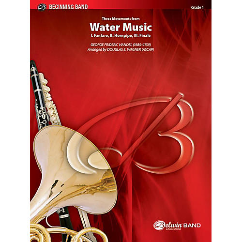 Alfred Three Movements from Water Music Concert Band Grade 1 Set-thumbnail