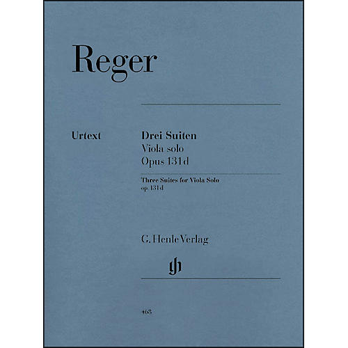 G. Henle Verlag Three Suites for Viola Solo Op. 131D By Reger-thumbnail