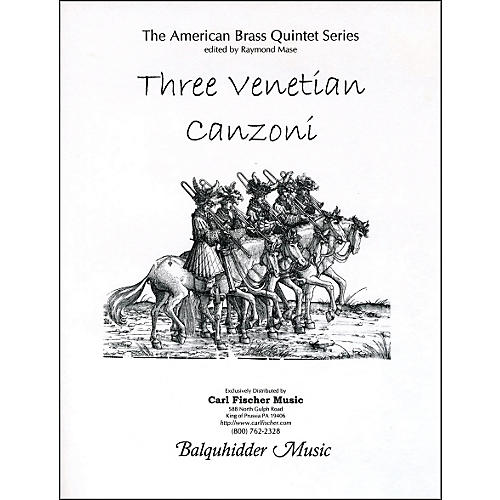 Carl Fischer Three Venetian Canzoni Book-thumbnail