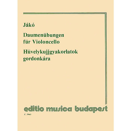 Editio Musica Budapest Thumb Exercises - Violoncello EMB Series