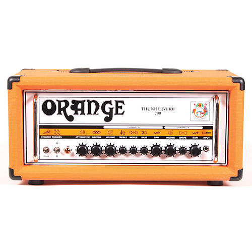 Orange Amplifiers Thunderverb 200 Series TH200HTC 200W Tube Guitar Amp Head Orange