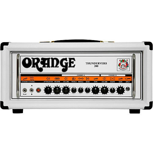 Orange Amplifiers Thunderverb TH200H 200W Tube Guitar Amp Head in Limited Edition White-thumbnail