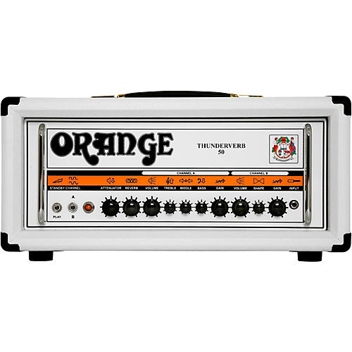 Orange Amplifiers Thunderverb TH50H 50W Tube Guitar Amp Head in Limited Edition White