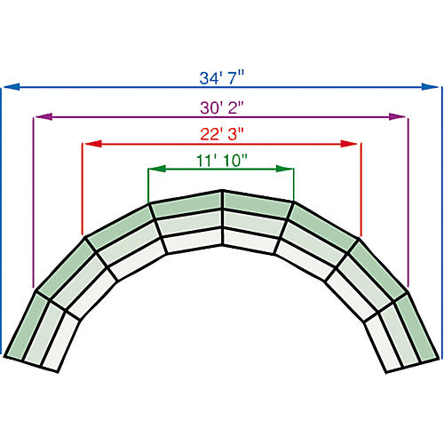 Midwest Folding Products Tiered Tapered Standing Choral Risers-thumbnail