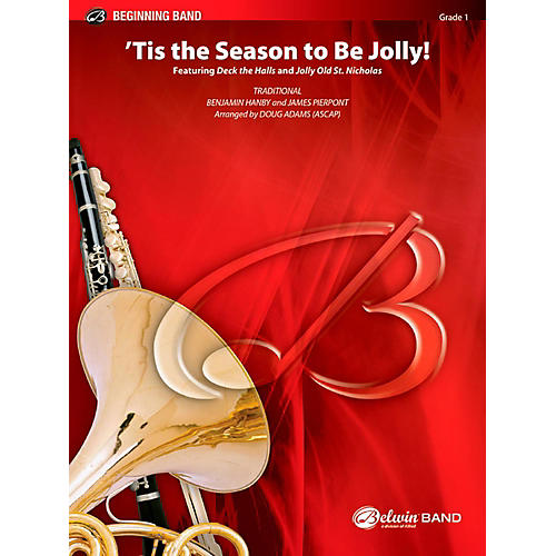 BELWIN Tis the Season to Be Jolly! Concert Band Grade 1 (Very Easy)-thumbnail