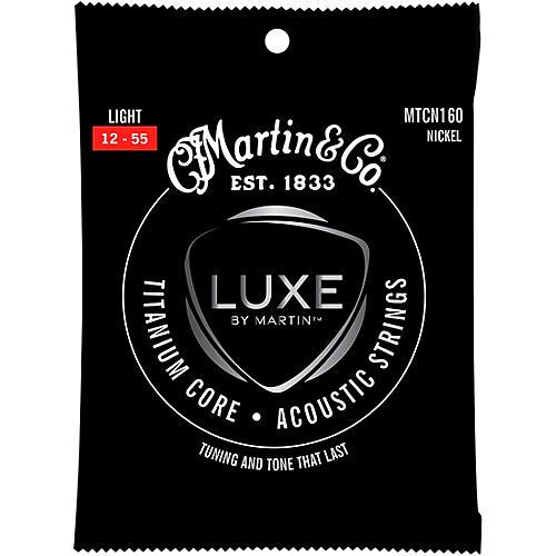 Martin Titanium Core Acoustic Guitar Strings Nickel Wrap Light Tension