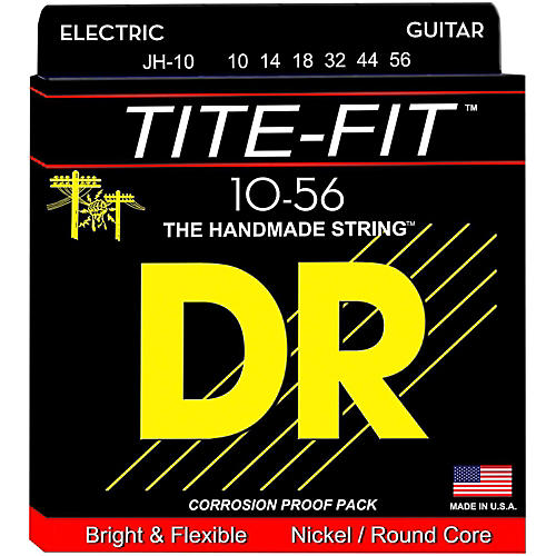 DR Strings Tite-Fit JH-10 Jeff Healey Medium Nickel Plated Electric Guitar Strings