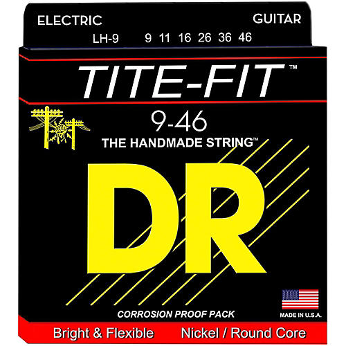 DR Strings Tite-Fit LH-9 Lite-n-Heavy Nickel Plated Electric Guitar Strings-thumbnail