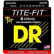 DR Strings Tite-Fit Nickel Plated Medium 8-String Electric Guitar Strings (10-75)