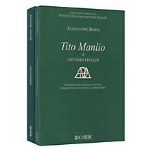 Ricordi Tito Manlio RV 738 Score with Critical Commentary Hardcover by Antonio Vivaldi Edited by Alessandro Borin