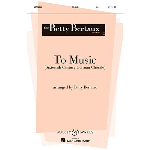 Boosey and Hawkes To Music (Set of Parts) Parts Arranged by Betty Bertaux