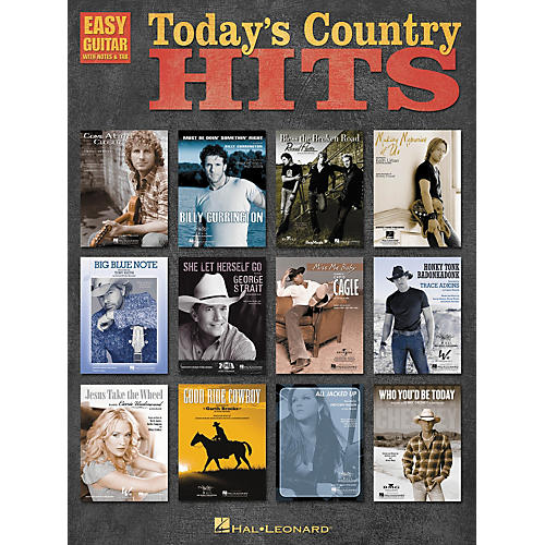 Hal Leonard Today's Country Hits Easy Guitar Tab Songbook