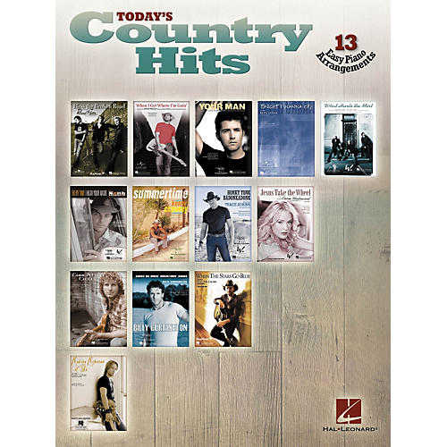 Hal Leonard Today's Country Hits For Easy Piano