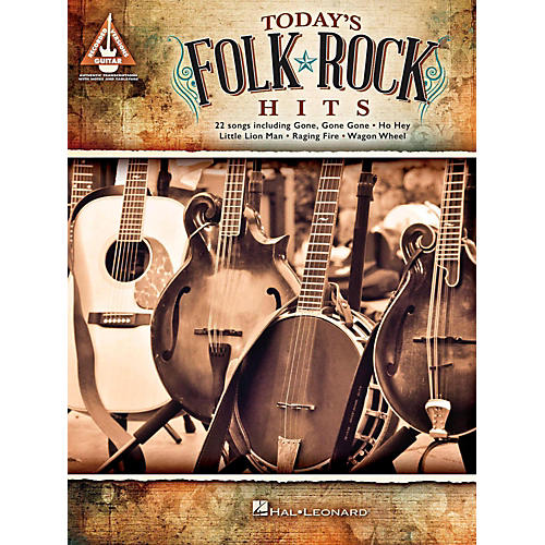 Hal Leonard Today's Folk Rock Hits Guitar Tab Songbook