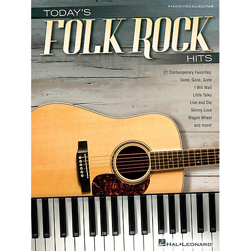 Hal Leonard Today's Folk Rock Hits Piano/Vocal/Guitar Songbook