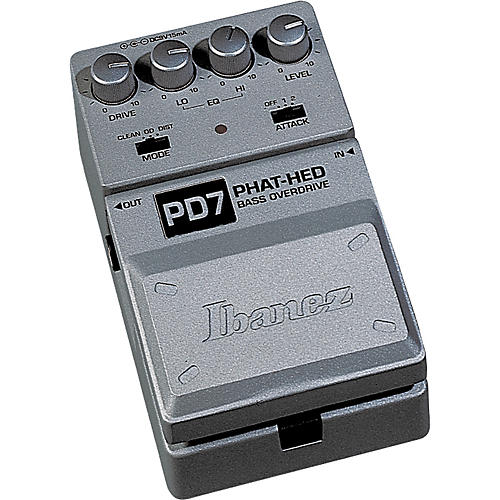 Ibanez Tone-Lok PD7 Phat Hed Bass Overdrive Pedal-thumbnail