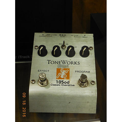 Korg Tone Works 105od Classic Overdrive Effect Pedal-thumbnail