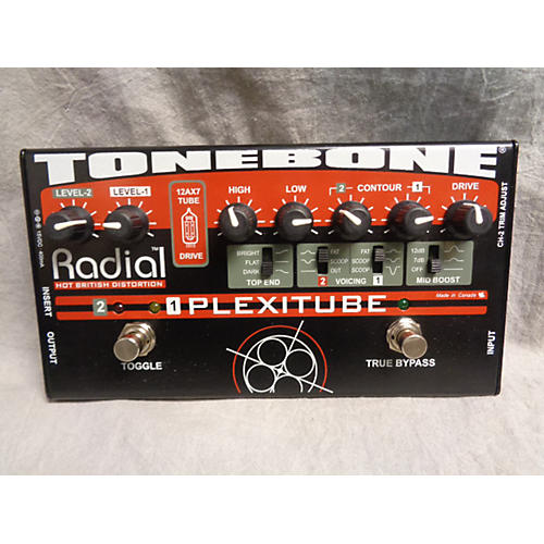 Radial Engineering Tonebone Hot British Tube Drive 2 CHANNEL Effect Pedal
