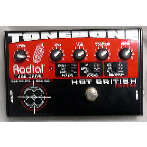 Radial Engineering Tonebone Hot British Tube Drive Effect Pedal-thumbnail