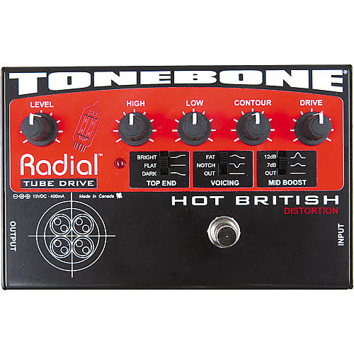 Radial Engineering Tonebone Hot British Tube Drive Effects Pedal-thumbnail