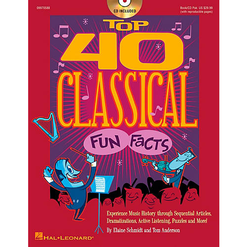 Hal Leonard Top 40 Classical Fun Facts Book/CD