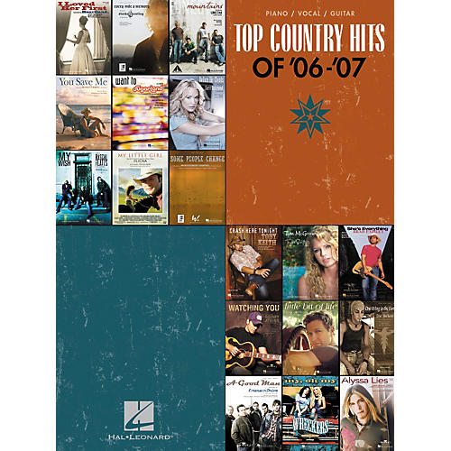 Hal Leonard Top Country Hits Of '06-'07 Songbook for Piano/Vocal/Guitar-thumbnail