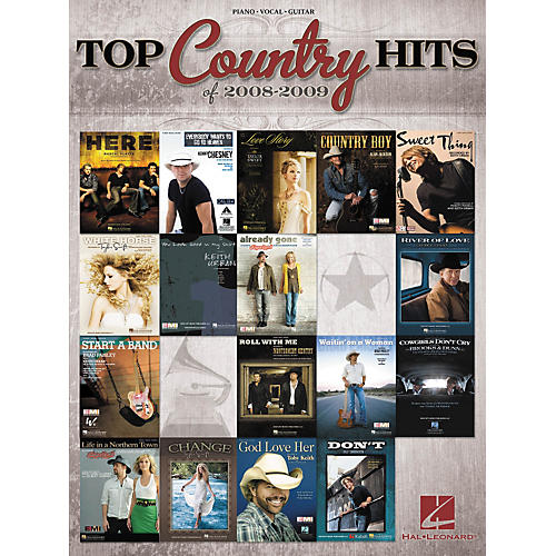 Hal Leonard Top Country Hits Of 2008-2009 (Piano/Vocal/Guitar Songbook)-thumbnail