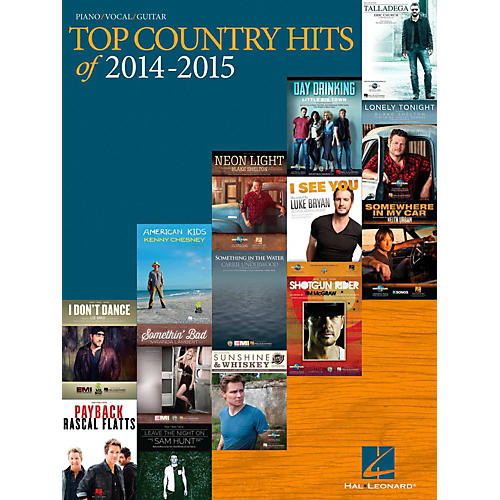 Hal Leonard Top Country Hits Of 2014-2015 for Piano/Vocal/Guitar-thumbnail