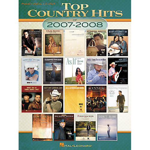 Hal Leonard Top Country Hits of 2007-2008 for Piano-Vocal-Guitar (Book)