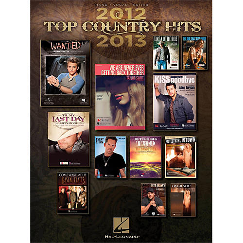 Hal Leonard Top Country Hits of 2012-2013 for PVG (Piano/Vocal/Guitar)