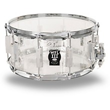 WFLIII Drums Top Hat and Cane Collector's Acrylic Snare Drum with Chrome Hardware