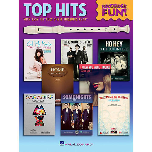 Hal Leonard Top Hits - Recorder Fun!  Songbook with Easy Instructions & Fingering Chart-thumbnail
