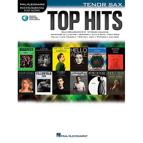 Hal Leonard Top Hits For Tenor Sax - Instrumental Play-Along Book/Online Audio-thumbnail