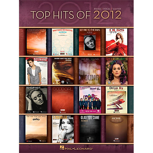 Hal Leonard Top Hits Of 2012 Piano/Vocal/Guitar Songbook