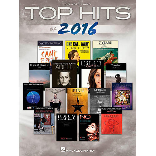 Hal Leonard Top Hits Of 2016 for Big-Note Piano-thumbnail