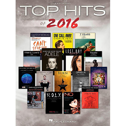 Hal Leonard Top Hits Of 2016 for Easy Piano