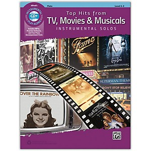 Alfred Top Hits from TV, Movies and Musicals Instrumental Solos Flute Book and ... by Alfred