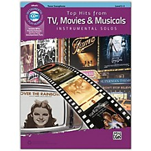 Alfred Top Hits from TV, Movies & Musicals Instrumental Solos Tenor Saxophone Book & CD, Level 2-3