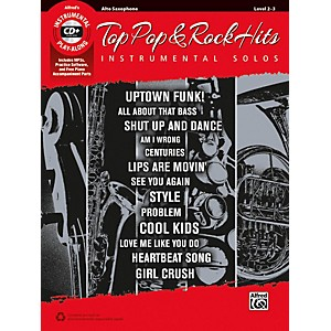 Alfred Top Pop and Rock Hits Instrumental Solos Alto Saxophone Book and CD by Alfred