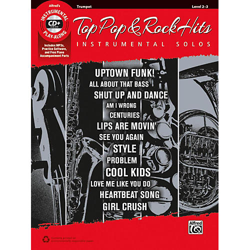 Alfred Top Pop & Rock Hits Instrumental Solos Trumpet Book & CD-thumbnail