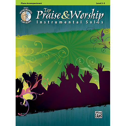 Alfred Top Praise & Worship Instrumental Solos - Piano Accompaniment, Level 2-3 (Book/CD)