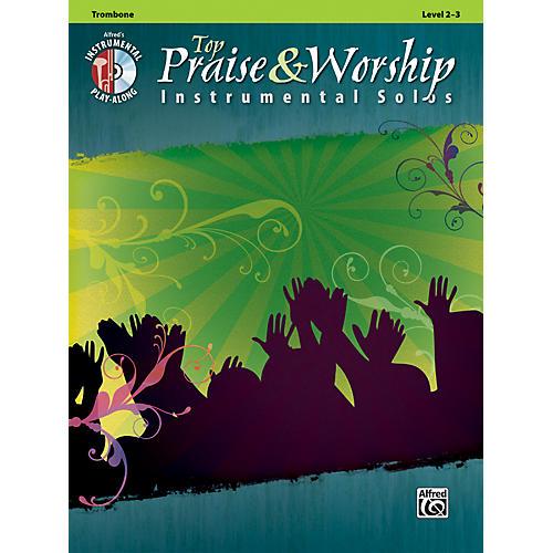 Alfred Top Praise & Worship Instrumental Solos - Trombone, Level 2-3 (Book/CD)