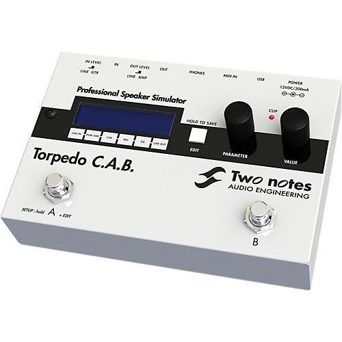 Two Notes Audio Engineering Torpedo C.A.B. Digital Speaker Cabinet Simulator Pedal