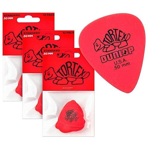 Dunlop Tortex Standard Guitar Picks Regular .50 mm 1 Dozen - Buy Two Get One FREE .50 mm Dozen